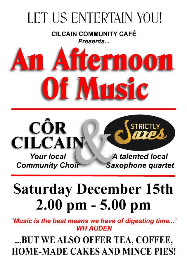 An Afternoon of Music, this Saturday......