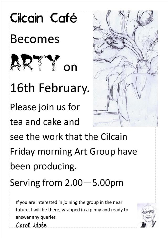 Poster for cilcain art cafe