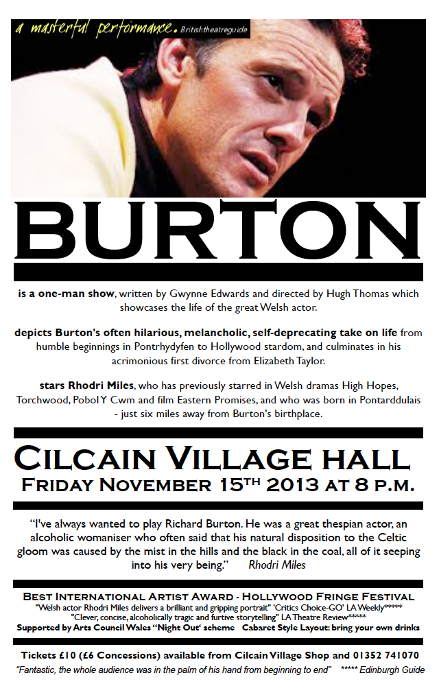 Burton prize-winning one man show this Friday - some tickets still left!