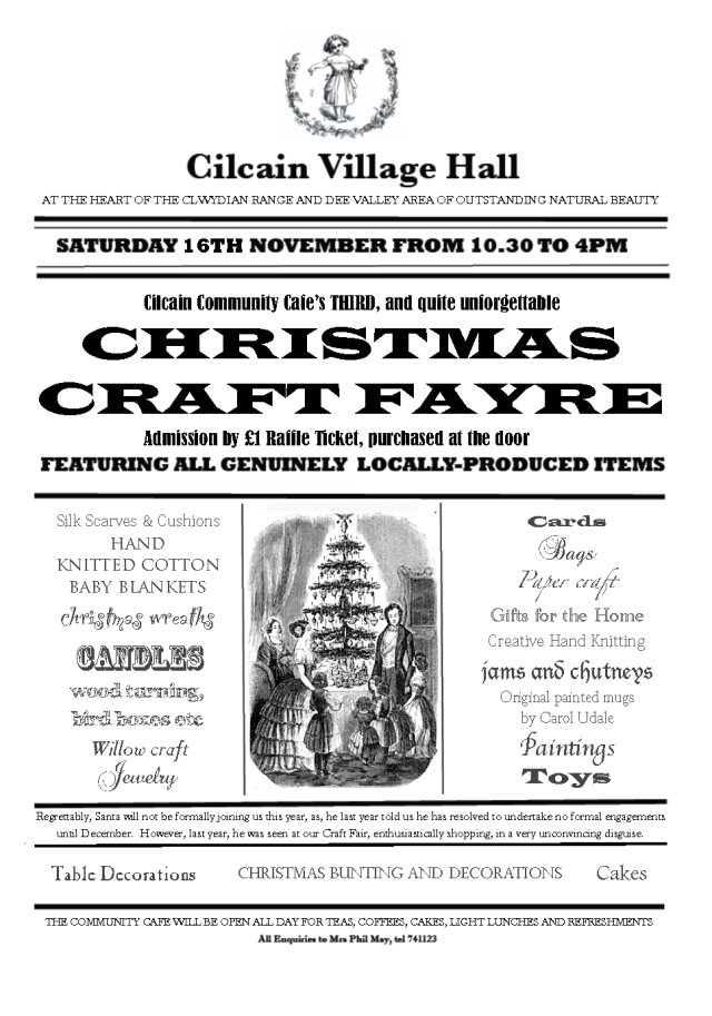 Christmas Craft Fair all day this Saturday!
