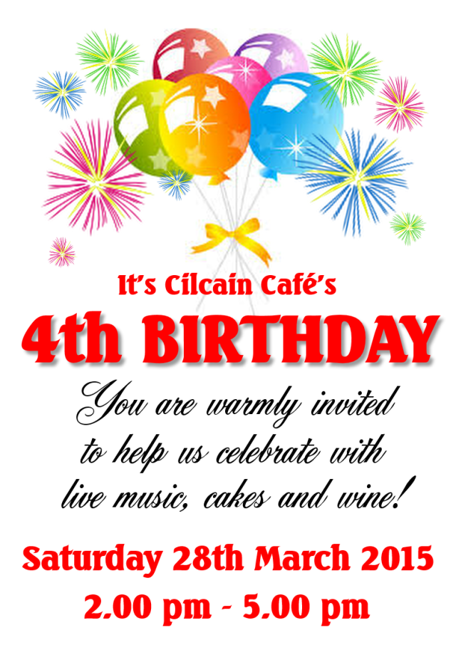 4th Birthday Celebration Cafe March 2015