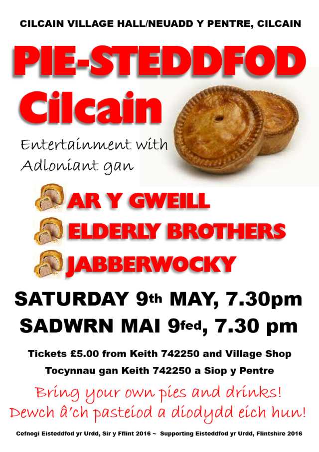 Pie-steddfod poster, May 2015