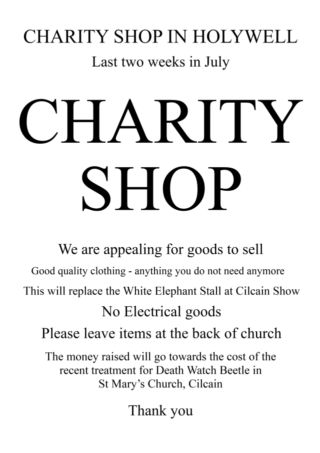 Charity Shop for Church June 2015