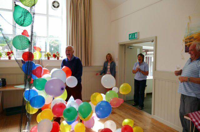 David and balloons