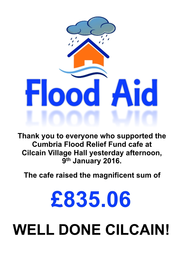 Flood aid - thank you